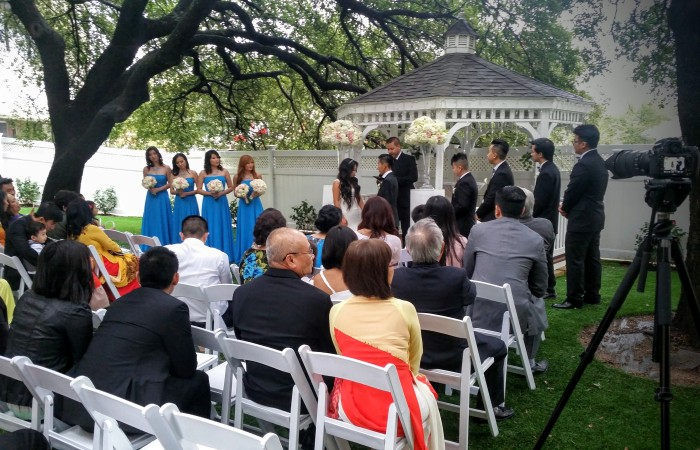 Dallas outdoor wedding ceremony